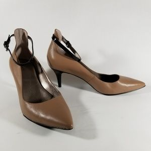 Tahari Warm Taupe Pointed Toe Pumps | Ankle Straps